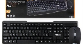 Teclado e Mouse Wireless HL 301 Hardline
